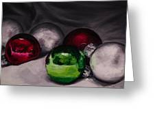 Christmas Ornaments 2 11x14 Greeting Card