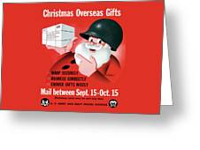 Christmas Overseas Gifts -- Ww2 Greeting Card