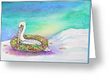 Christmas Pelican Greeting Card