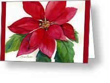 Christmas Poinsettia Greeting Card