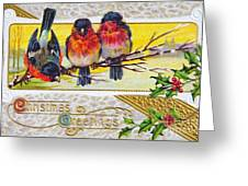 Christmas Postcard Greeting Card