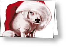 Christmas Pup Greeting Card