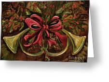 Christmas Red Ribbon Greeting Card