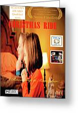 Christmas Ride Family Poster By Karen E. Francis Greeting Card