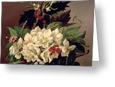 Christmas Roses Greeting Card
