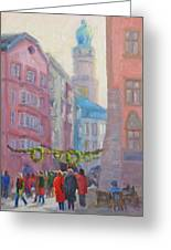 Christmas Shopping - Innsbruck Greeting Card