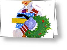 Christmas Shopping - Shop On-line Greeting Card