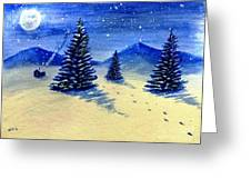 Christmas Snow Greeting Card