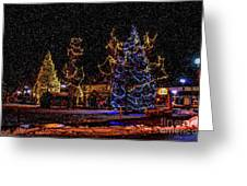 Christmas Snow Storm In Big Bear Greeting Card