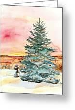 Christmas Sunrise Greeting Card