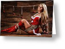 Christmas Babe - Fine Art Of Bondage Greeting Card