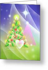 Christmas Tree And Colors Greeting Card