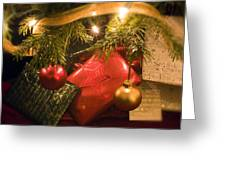 Christmas Tree Decorations And Gifts Greeting Card