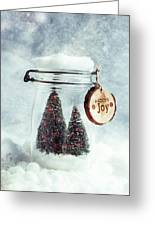 Christmas Tree Snowglobe Greeting Card