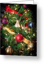 Christmas Tree With Angel 4 Greeting Card