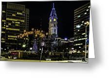 Christmas Village - Philadelphia Greeting Card