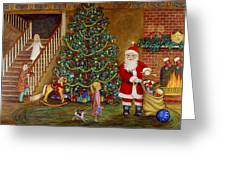 Christmas Visitor Greeting Card by Linda Mears