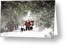 Christmas Walking Greeting Card