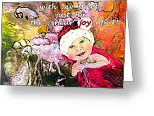 Christmas With My Sheep Greeting Card