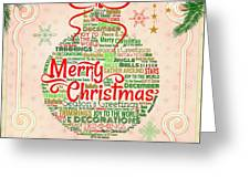 Christmas Words Ornament Greeting Card