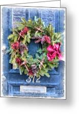 Christmas Wreath Watercolor Greeting Card