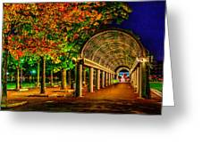 Christopher Columbus Park 3766 Greeting Card