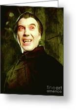 Christopher Lee, Dracula Greeting Card