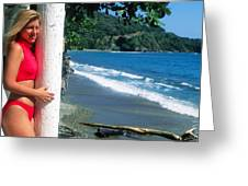 Christy At The Beach Greeting Card