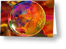 Chromatic Floral Sphere Greeting Card