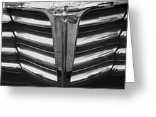 Chrome Grill 1948 Chevey Greeting Card