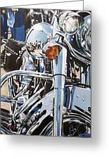 Chrome Harley Greeting Card