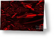 Chrome In Red Greeting Card