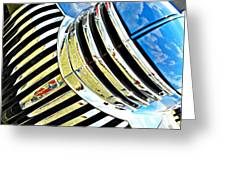 Chrome On The Chevy Greeting Card