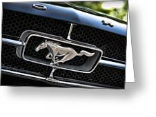 Chrome Stallion - Ford Mustang Greeting Card