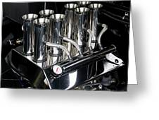 Chromed Fuel Injection Greeting Card