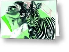 Chronickles Of Zebra Boy   Greeting Card by Rene Capone