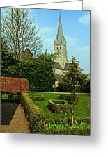 Church Garden Greeting Card