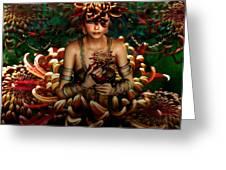 Chrysanthemum Bouquet 004 Greeting Card