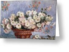 Chrysanthemums, 1878  Greeting Card