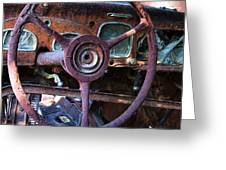 Chrysler Airflow Dashboard Painterly Impression Greeting Card