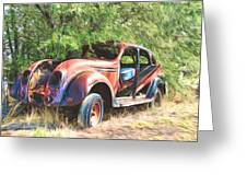 Chrysler Airflow Painterly Expression Greeting Card