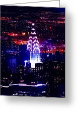 Chrysler Building At Night Greeting Card