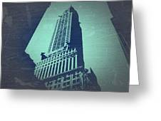 Chrysler Building  Greeting Card by Naxart Studio