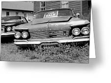 Chrysler Imperials - Bw Greeting Card