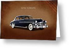 Chrysler New Yorker 1949 Greeting Card