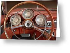 Chrysler Turbine Cockpit View Greeting Card