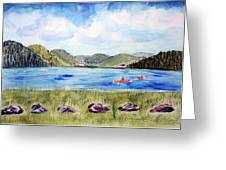 Chrystal Lake  Barton Vt  Greeting Card