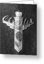 Chrystler Emblem Greeting Card