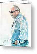 Chubby Chandler Watercolor Greeting Card
