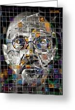 Chuck Close Greeting Card by Russell Pierce